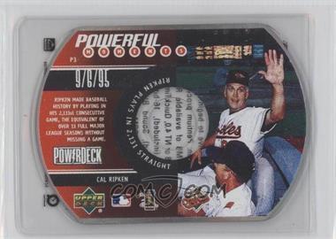 1999 Upper Deck Powerdeck Powerful Moments CD-ROM #P3 - Cal Ripken Jr.