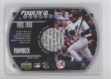 1999 Upper Deck Powerdeck Powerful Moments CD-ROM #P5 - Derek Jeter