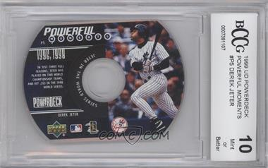 1999 Upper Deck Powerdeck Powerful Moments CD-ROM #P5 - Derek Jeter [ENCASED]