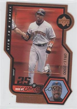 1999 Upper Deck View to Thrill Double Bronze Die-Cut #V25 - Barry Bonds /2000