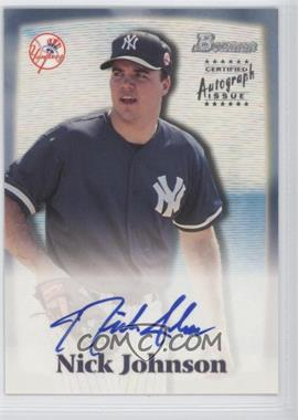 2000 Bowman Autographs #NJ - Nick Johnson