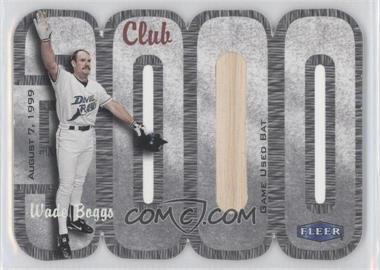 2000 Fleer 3000 Club - Multi-Product Insert [Base] - Memorabilia #WABO.1 - Wade Boggs (Bat) /250