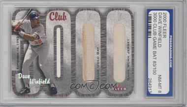 2000 Fleer 3000 Club Multi-Product Insert [Base] Memorabilia #DAWI.2 - Dave Winfield (Bat and Jersey) /100 [ENCASED]