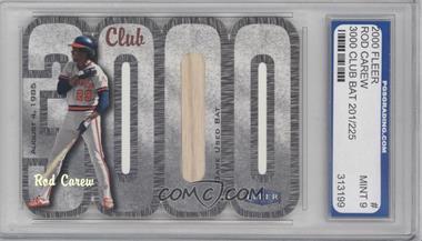 2000 Fleer 3000 Club Multi-Product Insert [Base] Memorabilia #ROCA.2 - Rod Carew (Bat) /225 [ENCASED]