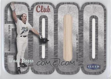 2000 Fleer 3000 Club Multi-Product Insert [Base] Memorabilia #WABO.1 - Wade Boggs (Bat) /250