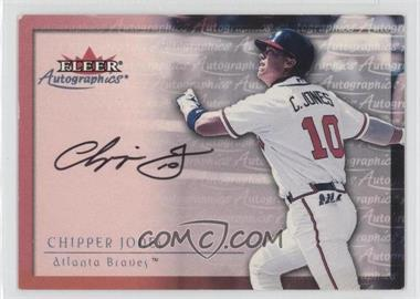 2000 Fleer Autographics Autographs #CHJO - Chipper Jones