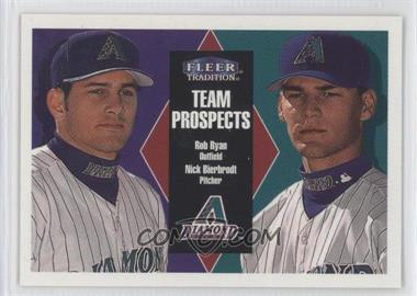 2000 Fleer Tradition Glossy #389 - Rob Ryan, Nick Bierbrodt