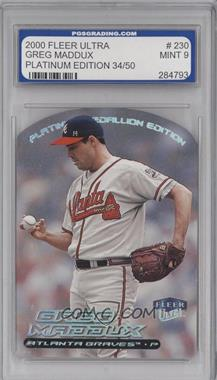 2000 Fleer Ultra Platinum Medallion #230P - Greg Maddux /50 [ENCASED]