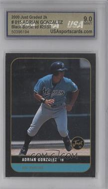 2000 Just Minors Just Graded Black #015 - Adrian Gonzalez /50 [ENCASED]