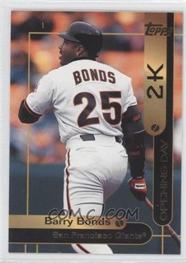 2000 Opening Day 2K #OD2 - Barry Bonds
