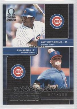 2000 Pacific Omega #166 - Phil Norton, Gary Matthews Jr. /999