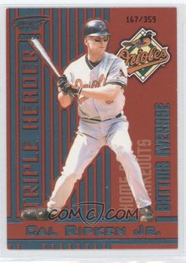 2000 Pacific Revolution Triple Header Blue #2 - Cal Ripken Jr. /359