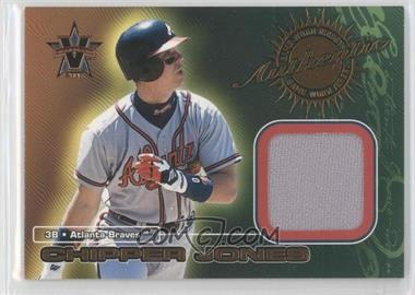2000 Pacific Vanguard Game-Worn Jerseys #1 - Chipper Jones