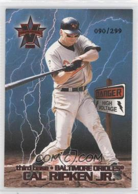 2000 Pacific Vanguard High Voltage Red #7 - Cal Ripken Jr. /299