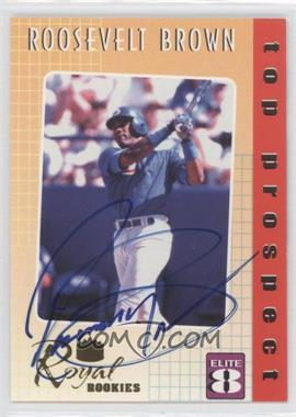 2000 Royal Rookies Elite 8 Promo Autographs [Autographed] #1 - Roosevelt Brown
