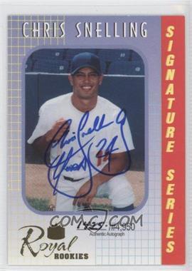 2000 Royal Rookies Signature Series Autographs [Autographed] #10 - Chris Snelling /4950