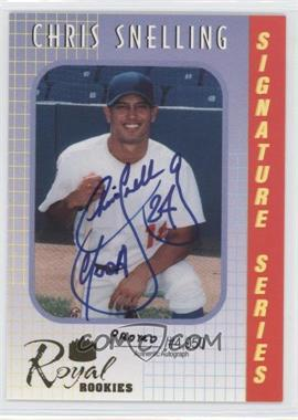 2000 Royal Rookies Signature Series Promos Autographs [Autographed] #10 - Chris Snelling /300