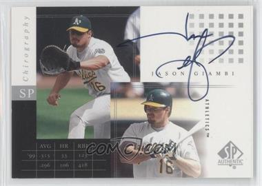 2000 SP Authentic Chirography #JG - Jason Giambi