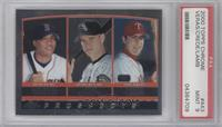 Wilton Veras, Joe Crede, Mike Lamb [PSA 9]