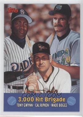 2000 Topps Combos Limited Edition #TC10 - Tony Gwynn, Cal Ripken Jr., Wade Boggs