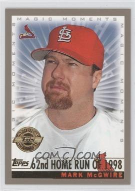 2000 Topps Factory Set [Base] Home Team Advantage #236 - Mark McGwire