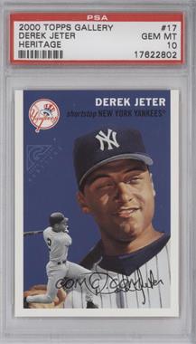 2000 Topps Gallery Heritage #TGH17 - Derek Jeter [PSA10]
