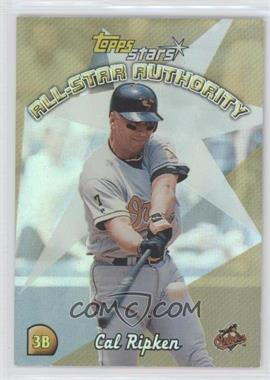 2000 Topps Stars All-Star Authority #AS4 - Cal Ripken Jr.