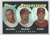 Willie Stargell, Pat Burrell, Mark McGwire