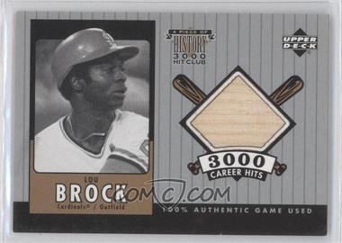2000 Upper Deck - A Piece of History 3000 Hit Club #LB-B - Lou Brock
