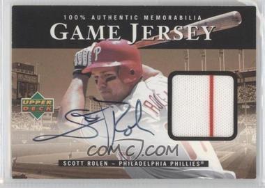 2000 Upper Deck - Game Jersey - Autographs [Autographed] #H-SR - Scott Rolen