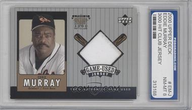2000 Upper Deck A Piece of History 3000 Hit Club #EM-J - Eddie Murray [ENCASED]