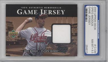 2000 Upper Deck Game Jersey #C-GM - Greg Maddux [ENCASED]