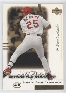 2000 Upper Deck Gold Reserve Setting the Standard #S10 - Mark McGwire