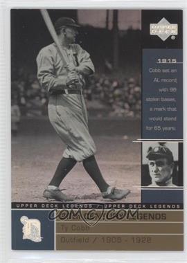 2000 Upper Deck Legends - [Base] - Commemorative Collection #134 - Ty Cobb /100