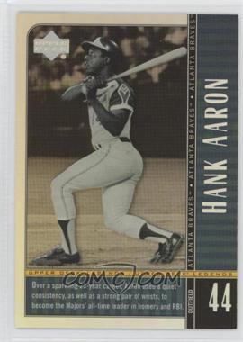 2000 Upper Deck Legends - [Base] - Commemorative Collection #9 - Hank Aaron /100
