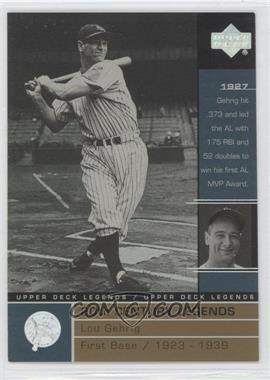 2000 Upper Deck Legends Commemorative Collection #127 - Lou Gehrig /100