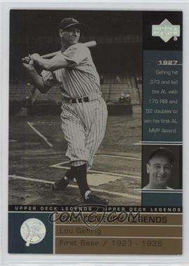 2000 Upper Deck Legends Commemorative Collection #127 - Lou Gehrig /100