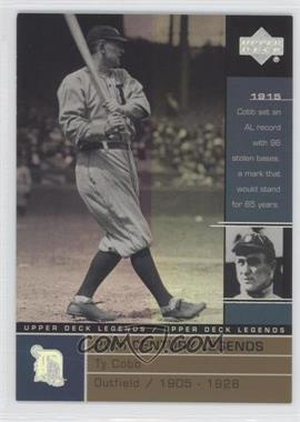 2000 Upper Deck Legends Commemorative Collection #134 - Ty Cobb /100