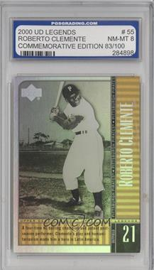 2000 Upper Deck Legends Commemorative Collection #55 - Roberto Clemente /100 [ENCASED]