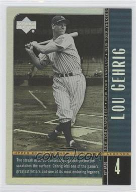 2000 Upper Deck Legends Commemorative Collection #86 - Lou Gehrig /100