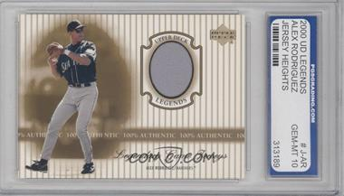 2000 Upper Deck Legends Legendary Game Jerseys #J-AR - Alex Rodriguez [ENCASED]