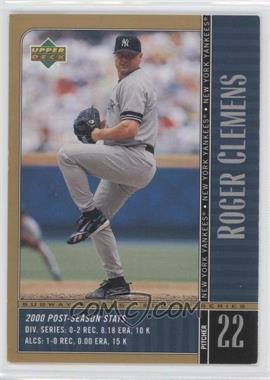 2000 Upper Deck Subway Series #NY3 - Roger Clemens