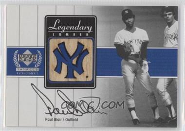 2000 Upper Deck Yankee Legends [???] #PB-LL - Paul Blair
