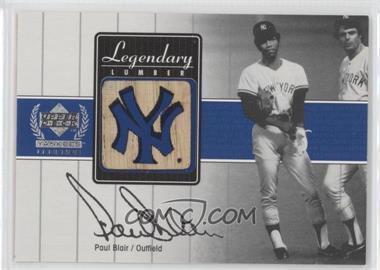 2000 Upper Deck Yankee Legends Legendary Lumber Gold #PB-LL - Paul Blair