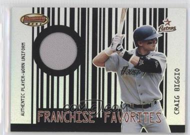 2001 Bowman's Best - Franchise Favorites Relics #FFR-CB - Craig Biggio