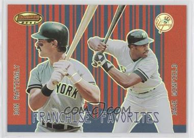 2001 Bowman's Best - Franchise Favorites #FF-MW - Don Mattingly, Dave Winfield