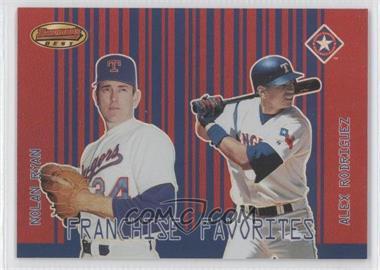 2001 Bowman's Best [???] #FF-RR - Nolan Ryan, Alex Rodriguez