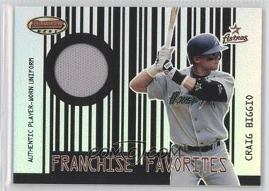 2001 Bowman's Best Franchise Favorites Relics #FFR-CB - Craig Biggio