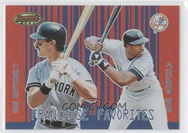 2001 Bowman's Best Franchise Favorites #FF-MW - Don Mattingly, Dave Winfield