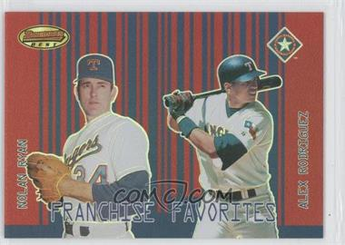2001 Bowman's Best Franchise Favorites #FF-RR - Nolan Ryan, Alex Rodriguez